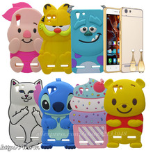 3D Ice Cream Minnie Stitch Silicon Cover Casing Rubber Phone Case for Vibe K5 Plus Rose Gold Mirror Case For Lenovo Vibe K5