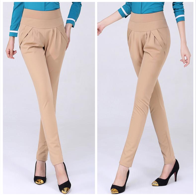 New Autumn Women Casual Loose High Waist Harem Pants Ladies Office Pants Plus Size Trousers S~4XL 5XL 6XL Blue Red Khaki Brown 8