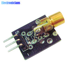 1Pcs KY-008 650nm Laser sensor Module 6mm 5V 5mW Red Laser Dot Diode Copper Head For Arduino