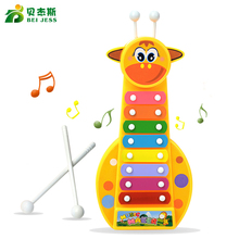 BEI JESS 8-Note Baby Early Musical Instrument Hand Knock Piano Giraffe Multicolor Xylophon Develop music Toy For Children Gifts(China)