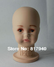 HOT SALE!High quality Unbreakable Realistic Plastic baby/kid mannequin dummy head for hat display manikin heads