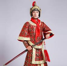 Sword guard suit TV show performance clothes general command of ancient male Han Qin Jin Tang generals Marshal three Costume(China)
