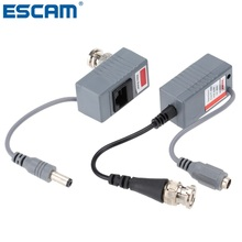 CCTV Camera Video Balun Transceiver BNC UTP RJ45 Video and Power over CAT5/5E/6 Cable(China)