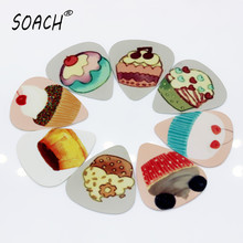 SOACH 10PCS 1.0mm high quality guitar picks two side Cake picks earrings DIY Mix picks guitar