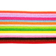 15pcs Rainbow Color 30cm*30cm Non Woven Fabric 3mm Thickness Polyester Felt For Sewing Dolls Crafts Home Decoration(China)