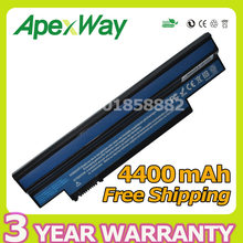 Apexway High Capacity 4400mAh 11.1V Replacement Laptop Battery for Acer Aspire One 253h 533 Series Battery UM09G31 UM09G41