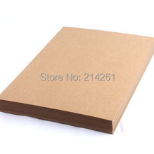 A4 300gsm Kraft paper cardboard Blank DIY Paper Cardboard Laser Printer Handmade Draw Draft Cardboard Wholesale(China)