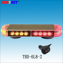 Dempsey LED mini lightbar,red&amber emergency light,Car Roof strobe warning light,cigar light switch(TBD-6L8-2)(China)