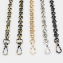 120cm ( DIY 50cm-140cm) Gold, Silver, Gun Black, Bronze 12mm Bag Metal Replacement Purse Chain Shoulder Strap for Handbag Handle(China)