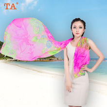 TA South Korea big silk scarves female Hangzhou digital printing scarves autumn and winter 100% silk scarves wholesale
