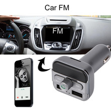 Car MP3 Audio Player Bluetooth FM Transmitter FM Modulator Car Kit HandsFree Music Player Dual USB Charger for iPod iPhone iPad(China)