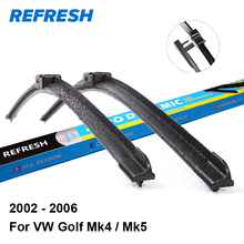 REFRESH Wiper Blades for Volkswagen Golf Mk4 / Mk5 Fit Side Pin Arms 2002 2003 2004 2005 2006(China)