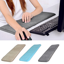 Ultra Memory Cotton Keyboard Pad Soft Sweat-absorbent Anti-slip Computer Wrist Elbow Mat Gift for Office Table Computer Desktop