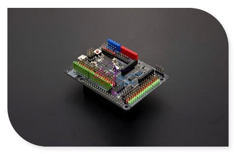 DFRobot Expansion Shield for Raspberry Pi B+ / Pi 2 /Pi 3, ATmega32u4 Leonardo 5V Compatible with Arduino standard shield sensor<br>