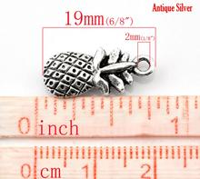 "8SEASONS 50PCs antique silver-color Pineapple Fruit Charm Pendants 19x9mm(6/8""x3/8"") (B21634)"
