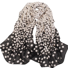 2016 New Fashion Women Lady Polka Chiffon Warm Hem Scarf Headscarf Shawl Blue Black Pink
