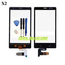Original High Quality 4.3'' For Nokia X2 Dual SIM RM-1013 X2DS Touch Screen Digitizer Sensor Front Glass Lens panel + tools