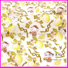 140*50cm 1pc Lemon Print Fabric 100%Cotton Fabric Patchwork Telas Lemon/Hello Kitty Print Fabric Sewing Material DIY Clothing