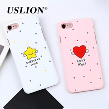 Cartoon Love Heart Stars Phone Case For iPhone 7 5 5s SE 6 6s Plus Cute Ultra Slim Hard PC Back Cover Cases For iPhone7 Plus