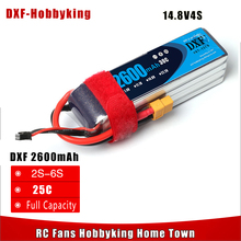 2017 DXF Power High Quality 14.8v 2600mAh 4S 30C lipo battery rc helicopter rc car rc boat quadcopter Li-Polymer battey FPV(China)