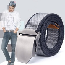 Hot Sale Canvas 20Colors Adult Belts Wide Long Knit Cloth Casual Men Adjustable Bales Catch Waistband(China)
