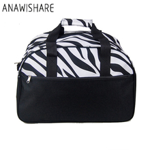 ANAWISHARE New Women Travel Bags Large Capacity Canvas Print Men Luggage Travel Duffle Bags Handbags For Trips Bhkw7(China)