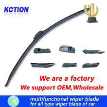 Windscreen wiper,Support OEM,Wholesale,Car Windshield Wiper Blade For All car wiper blades, Natural rubber, Bracketless