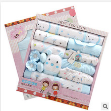 Free Ship 100% Cotton Autumn Winter Newborn Set Gift Full Moon Baby Clothing Set Infant Set Gift newborn baby clothes 21 pieces