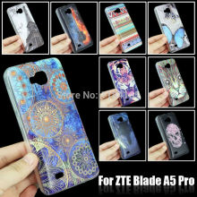 Fashion Translucent Soft TPU Case for ZTE Blade A5 Pro, Skin Gel Cover Beautiful Flower