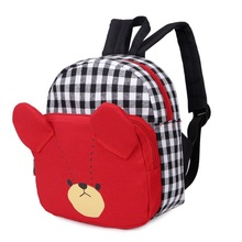 Best selling school packsack for child printed fashion style girl shoulder bag travel knapsack plaid rucksack WM58Z bolsos mujer