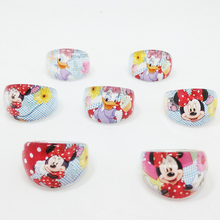50Pcs Wholesale Lots Lovely minnie  Acrylic kids Rings Child Girl Baby Daisy Ring Birthday Party Gift Jewelry Accessories