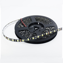SPLEVISI DC12V 5m 60 led/m  Black PCB Board Waterproof 5050 LED Strip Light Warm White CoolWhite RGB For home car hotel KTV Bar