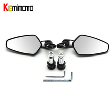"KEMiMOTO 7/8"" 22mm Universal Motorcycle Mirror Moto Bar End Mirror Rearview Side Mirror For BMW for Kawasaki for Honda Parts(China)"