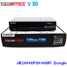 Tocomfree  ultra hd v30  full hd Digital Satellite Receiver Twin Tuner for North America support JB200
