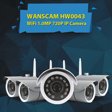 Wanscam HW0043 Outdoor HD 720P P2P Wireless Waterproof IP Webcam Smartphone View Supported Outdoor Wifi H264 720P Monitor Camera(China)