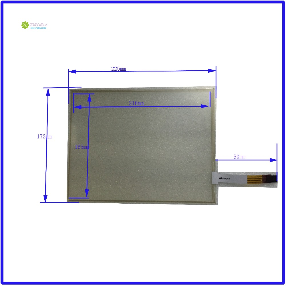 ZhiYuSun  225mm*173mm 10.4inch 4 lins Touch Screen glass touchsensor 225*173touchglass digitizer GLASS Good Industrial use  <br>