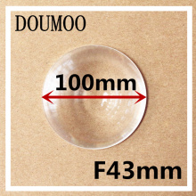 1 pcs / lot Condenser lens Diameter 100 mm Focal length 43 mm Fresnel Lens High light condenser DIY acrylic fresnel lens(China)