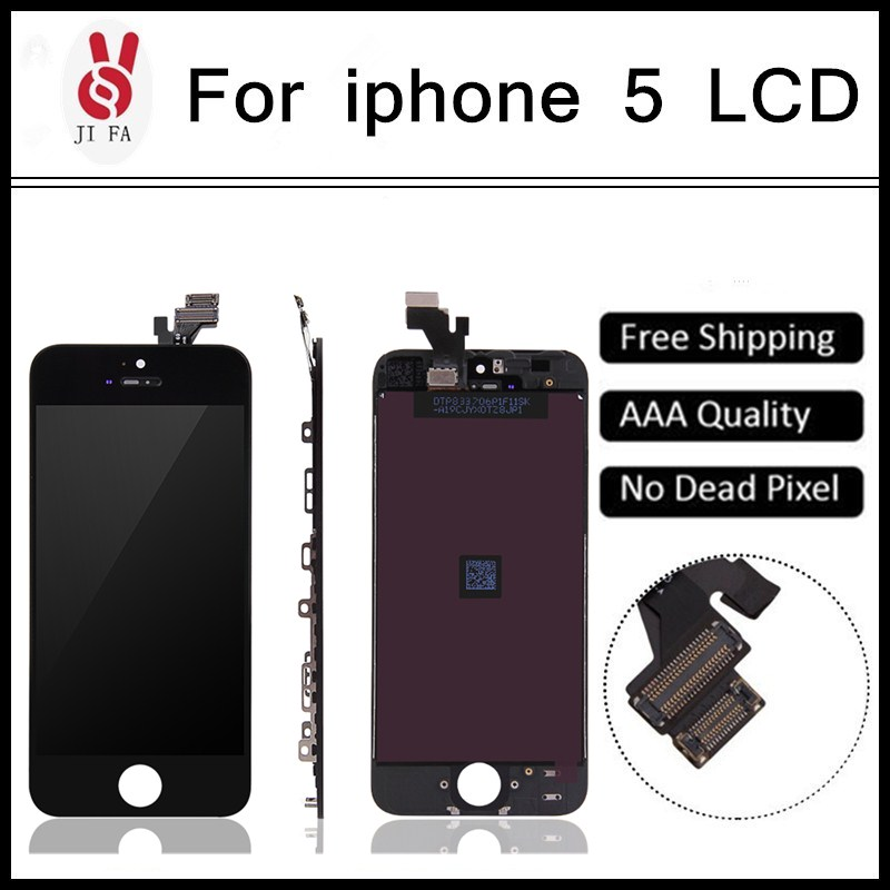 10PCS/LOT AAA Quality LCD Screen Display Digitizer Assembly For iPhone 5 LCD Display Black/White All Parts Free Shipping<br><br>Aliexpress