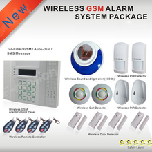 Wireless Wired Alarm Systems Security Home LCD speaker Keyboard Sensor GSM PSTN Alarm System built-in rechargeable batteries