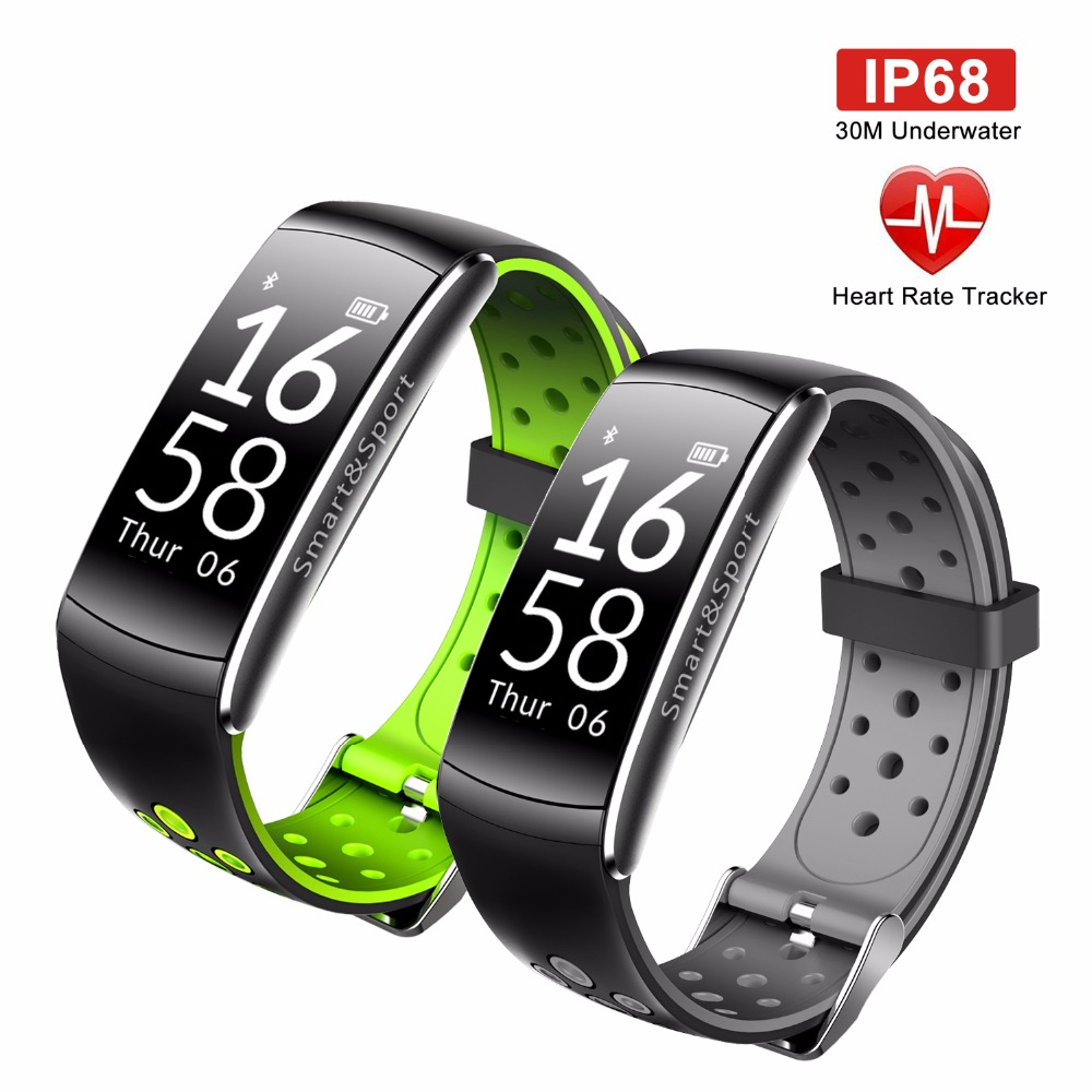 OGEDA Smart Watch Men Heart Rate Monitor IP68 Waterproof Fitness Tracker Blood Pressure Bluetooth Android IOS Women Man