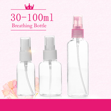 Color send randomly !!! 1 pc Travel Transparent  Small Empty Plastic  Perfume Atomizer Spray Bottle 30/50/100 ml