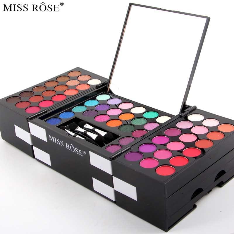 Miss Rose Full Makeup Set Professional 144 Color Eyeshadow + 3 Colors Eyebrow + 3 Color Blush Kit Waterproof Makeup Palette<br>