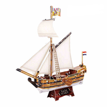 Handmade DIY 3D paper Puzzle Mary yacht Model Children Toys Birthday Gifts T4010h(China)