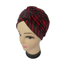 12pcs/lot Fashion Stripe Women Turban Head Wrap Band Hat Headband Cap Chemo Bandana