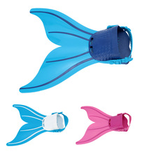 Kid Children Swimming Fins Mermaid Swim Fin Diving Monofin Swimming Foot Flipper Training Shoes Tail Diving Feet Tail Monofin