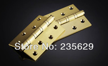 Free Shipping, 4 inches Ball bearing hinge, Pure Copper  Hinges for timber Door, Easy Installation,Low noise Hinges, 4'' hinges