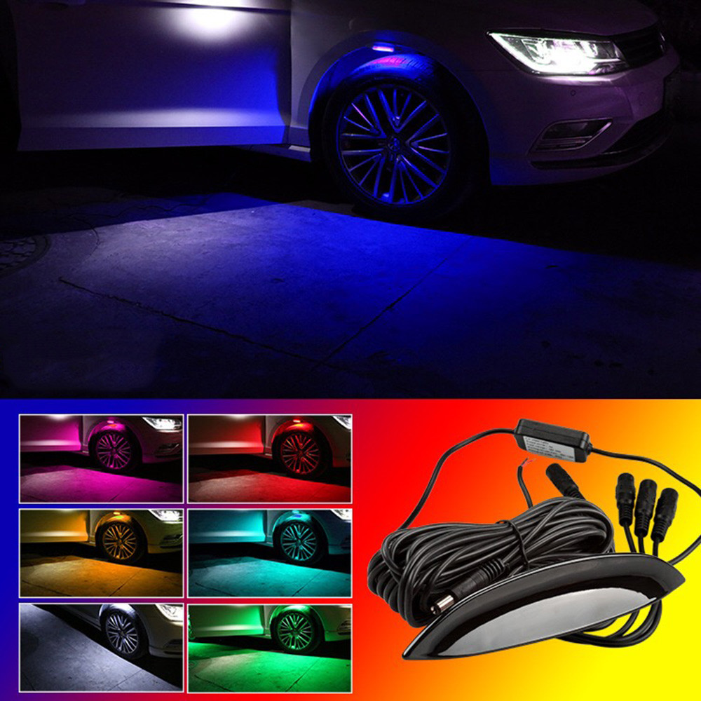2016 hot sale New car styling 4PC Car Truck LED Wheel Lights Tire Light Eyebrow Shape Decorative Lights Lamp very nice Vicky<br>