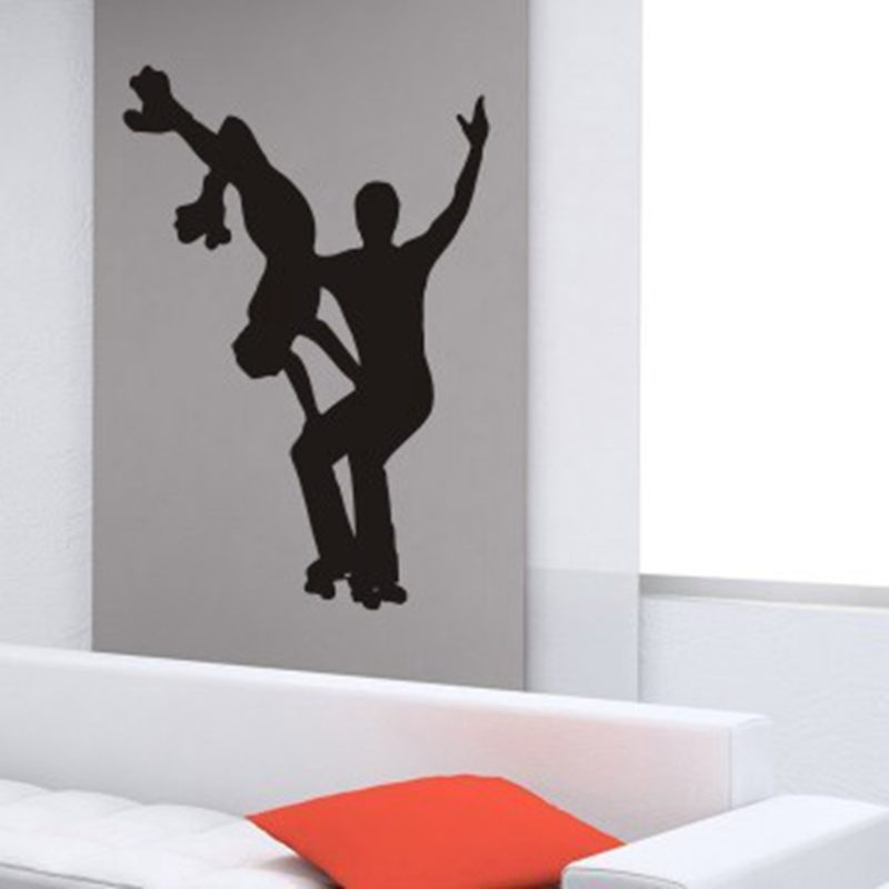 DCTAL Ice Dance Shooting Ice-sports Sports Ski Skating Skate Sticker Sports Decal Kids Room Posters Vinyl Wall Decals Sticker