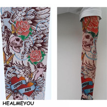 Hot Sale Style Unisex Women Men Temporary Fake Slip On Tattoo Arm Sleeves Kit Collection Halloween 2017(China)