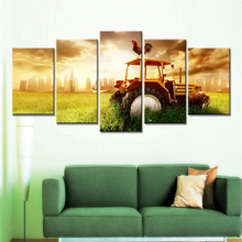 Drop Shipping 5 Pieces Modular Wall Paintings Sunshine Harvester Cuadros Decoracion Wall Pictures for Living Room No Frames